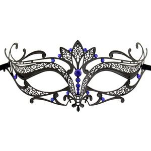 Accessories - Laser Cut Metal Tiara Venetian Masquerade Mask